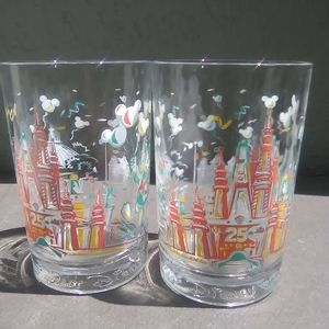 Two never used Walt Disney glasses that